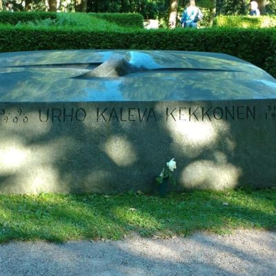 Urho Kekkonen's grave at the Hietaniemi Cemetery in Helsinki.