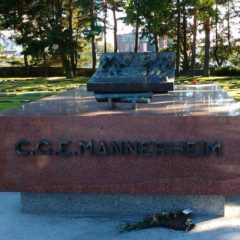 Mannerheim's grave at the Hietaniemi Cemetery in Helsinki.