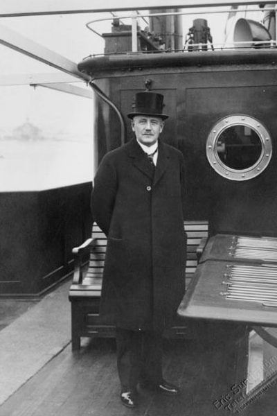 President Relander on the deck of the steamship Wellamo. <em>Sundström Eric. National Board of Antiquities, Historical Picture Collection</em>