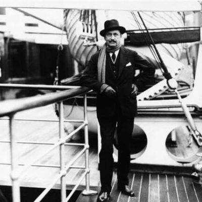 Gustaf Mannerheim on the deck of a ship. <em>P. J. Bögelund. National Museum of Finland, Picture Collection of Maritime Museum of Finland</em>