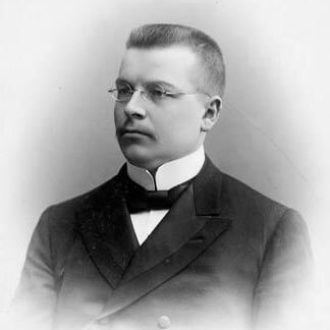 J.K. Paasikivi, Director-in-Chief of the Treasury, in 1904. <em> Atelier Apollo, Helsinki 1904. National Board of Antiquities, Historical Picture Collection</em>